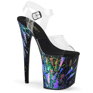 "8"" High Heel Holographic Geometric Platform Shoes"